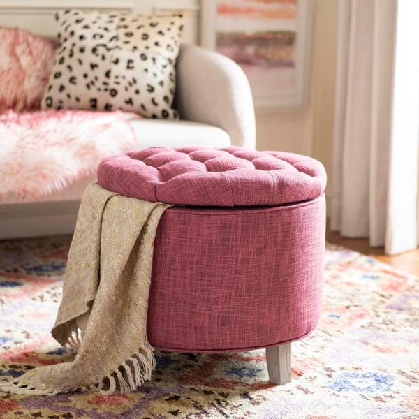 Enjoyable Shop Safavieh Amelia Tufted Rose Storage Ottoman On Sale Gmtry Best Dining Table And Chair Ideas Images Gmtryco