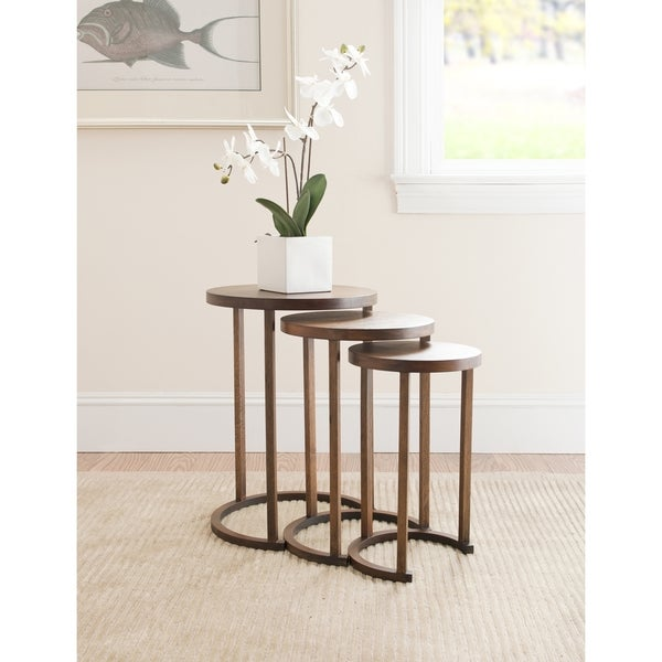 Safavieh Bali Brown Nesting Tables (Set of 3)