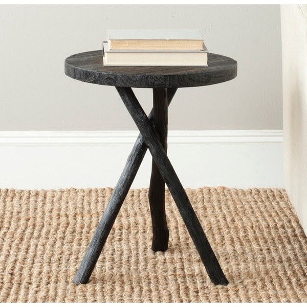 Safavieh Bali Black Tripod Round End Table