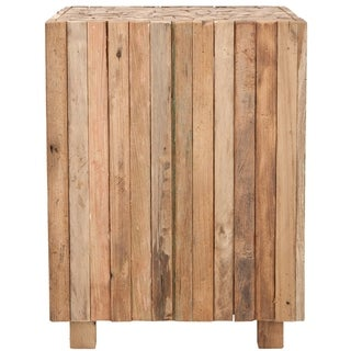 Safavieh Bali Teak Strips Square End Table