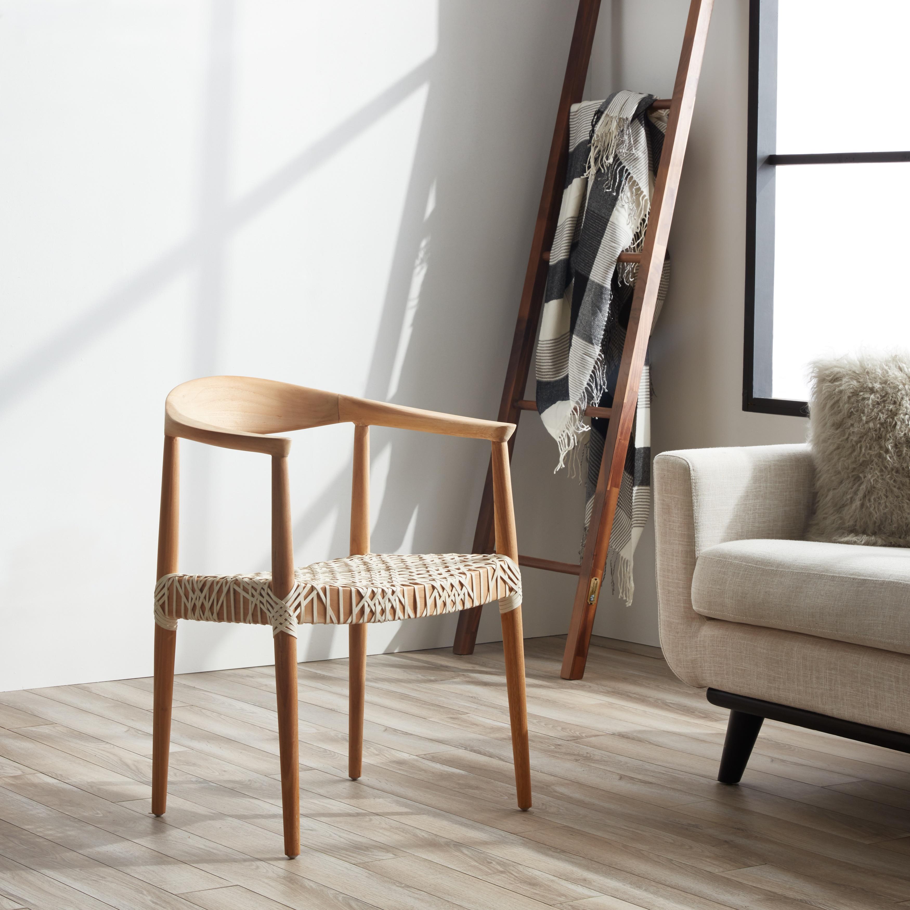 . Safavieh Bandelier Light Oak Arm Chair