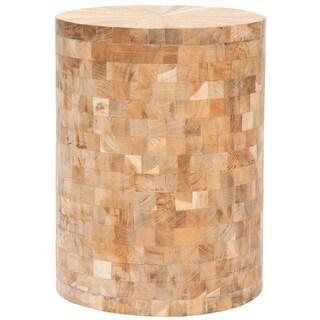 """Safavieh Tioga Light Maple Teak Wood Stool - 12"""" x 12"""" x 15.5"""""""