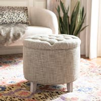 Safavieh Amelia Tufted Heather Grey Storage Ottoman