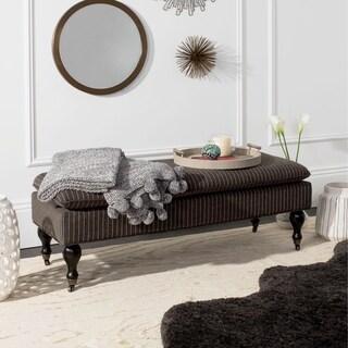 Safavieh Mansfield Grey Pinstripe Pillowtop Ottoman