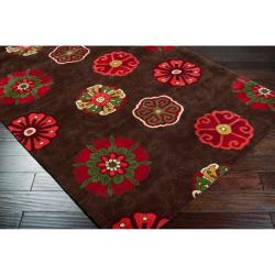 Smithsonian Hand-tufted Panamint Floral Medallion Wool Rug (8' x 11') - Thumbnail 1