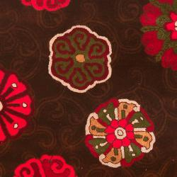 Smithsonian Hand-tufted Panamint Floral Medallion Wool Rug (8' x 11') - Thumbnail 2