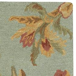 Hand-hooked Lydd New Zealand Wool Rug (8' x 11') - Thumbnail 1