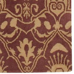 Hand-knotted Ludlow Hand-carded New Zealand Wool Rug (8' x 11') - Thumbnail 1