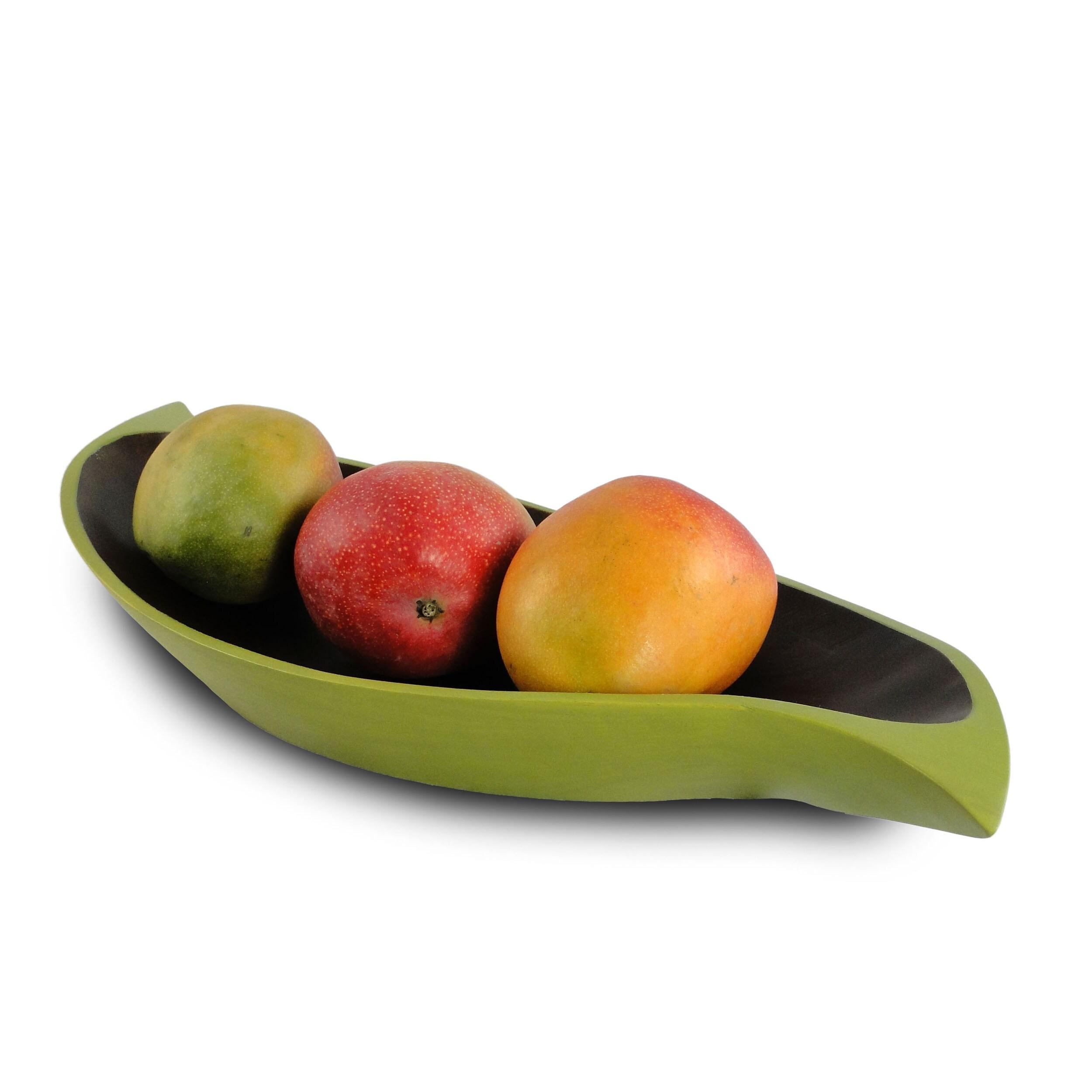 Avocado Mango Wood Curry Leaf Tray (Thailand)