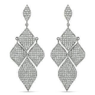 Miadora Sterling Silver White Cubic Zirconia Dangle Earrings|https://ak1.ostkcdn.com/images/products/6373116/P13989134.jpg?impolicy=medium