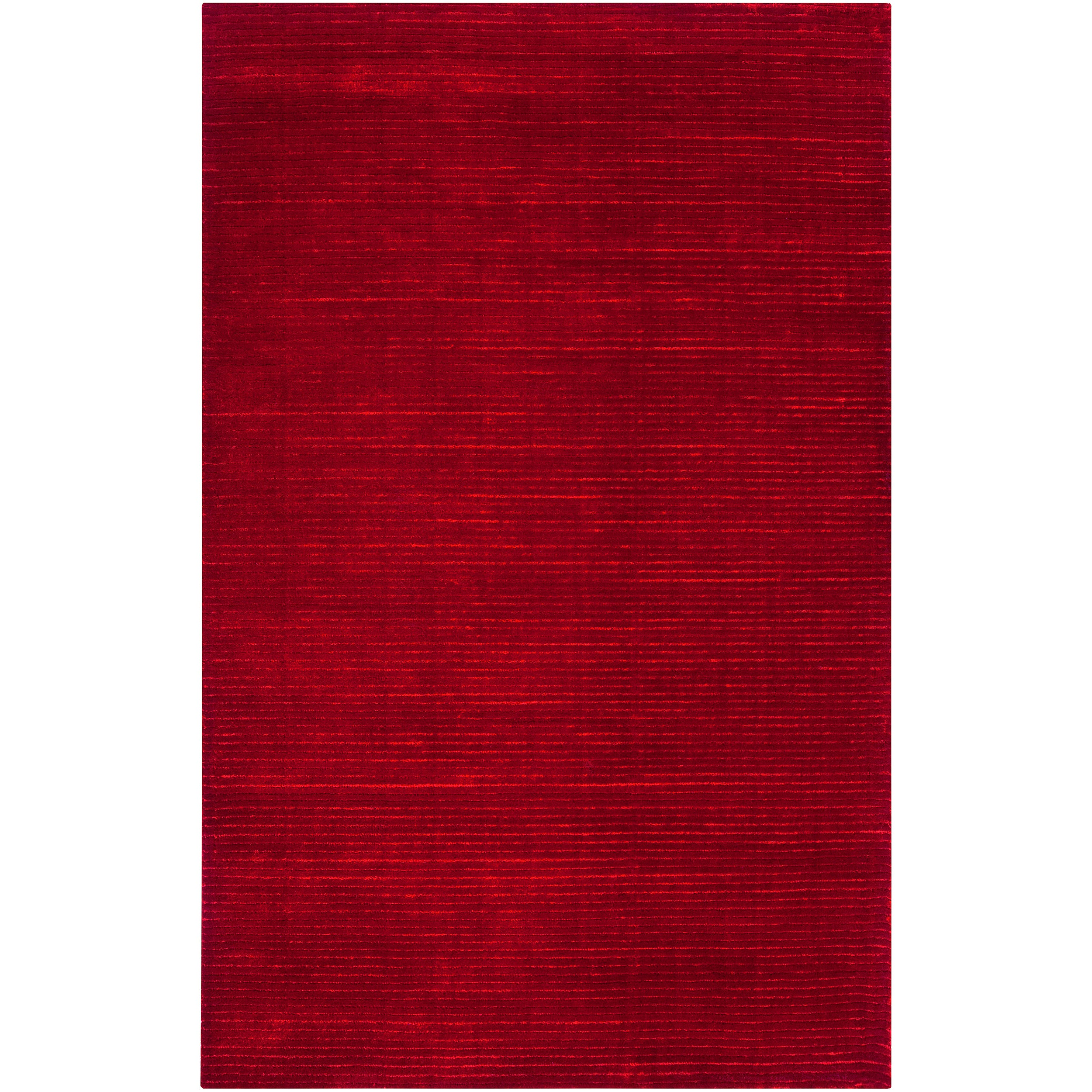 Hand-woven Solid Red Casual Hartlepool Rug (8' x 11')
