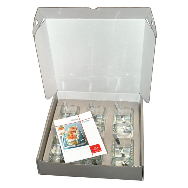 La Rochere Kube 6-Piece Gift Boxed Appetizer Set with Spoons