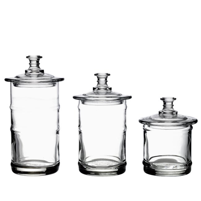 La Rochere French Glass Kitchen Storage Jars (Set of 3)