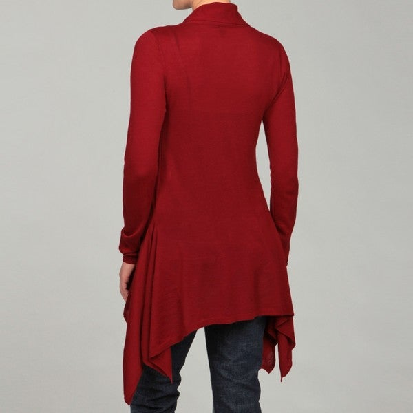AVA Women's Mulled Berry Cashmere Cardigan FINAL SALE