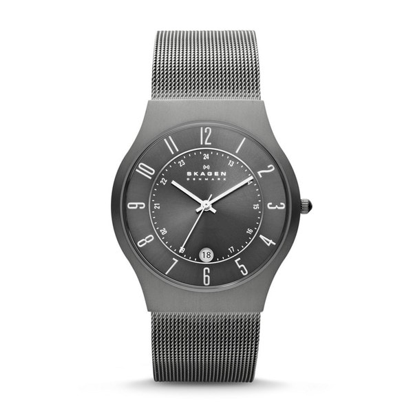 Skagen Men's 233XLTTM Grenen Grey Titanium Watch