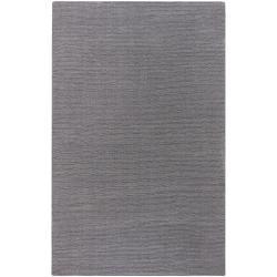 Hand-crafted Solid Grey Casual Dewsbury Wool Rug (12' x 15')