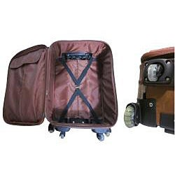 Amerileather Odyssey 23-inch Expandable Carry-On Spinner Upright - Thumbnail 2