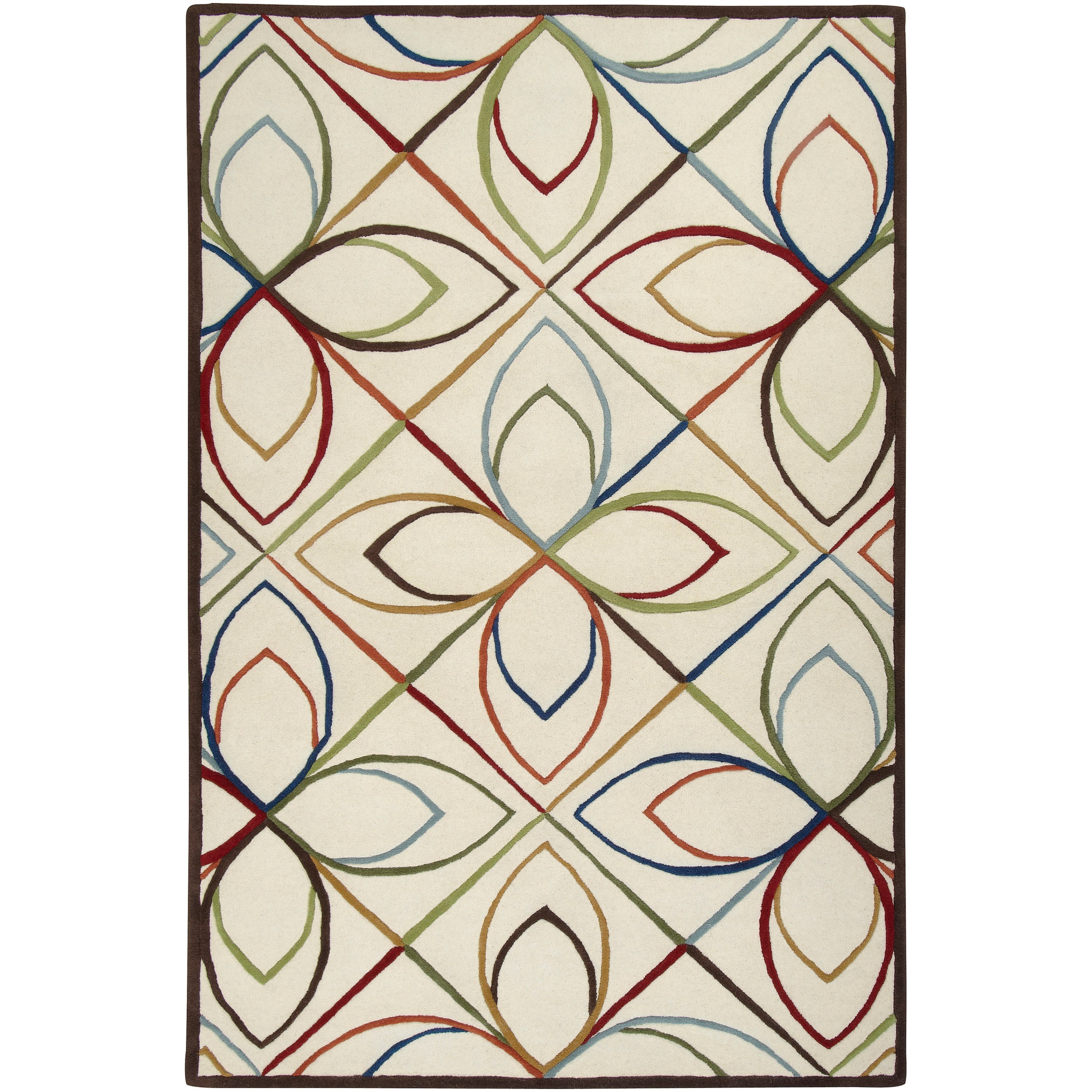 Hand-tufted Ivory Contemporary Littlehampton New Zealand Wool Geometric Rug (8' x 11')