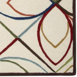 Hand-tufted Ivory Contemporary Littlehampton New Zealand Wool Geometric Rug (8' x 11') - Thumbnail 1