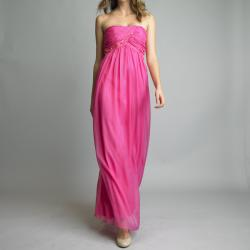 Issue New York Long Strapless Coctktail Dress with Sequins