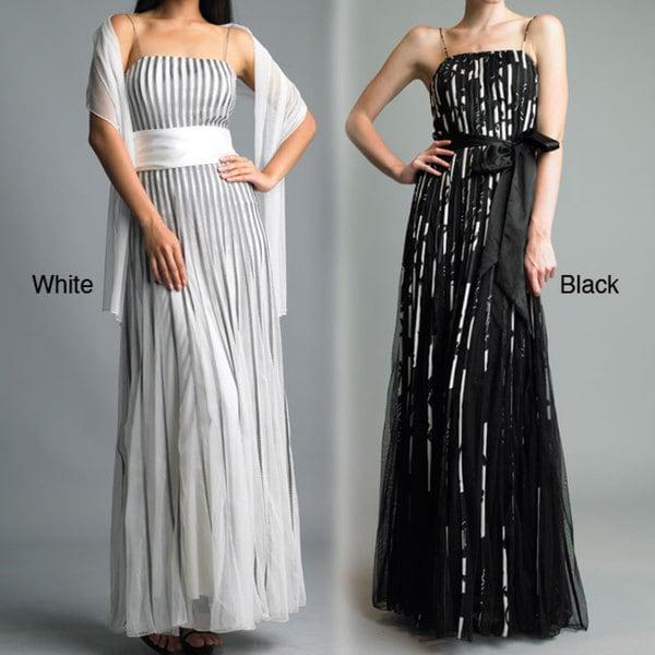 Issue New York Women's 'New York' Sash Waist Evening Dress