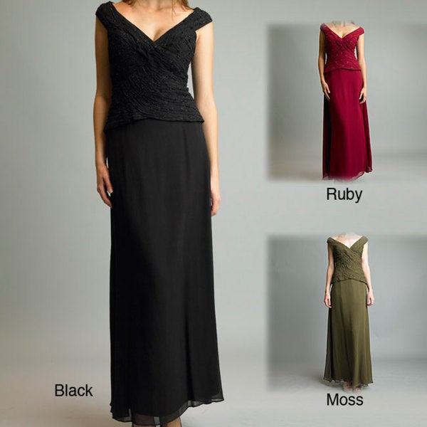 Issue New York Women's Silk Long Cocktail Dress