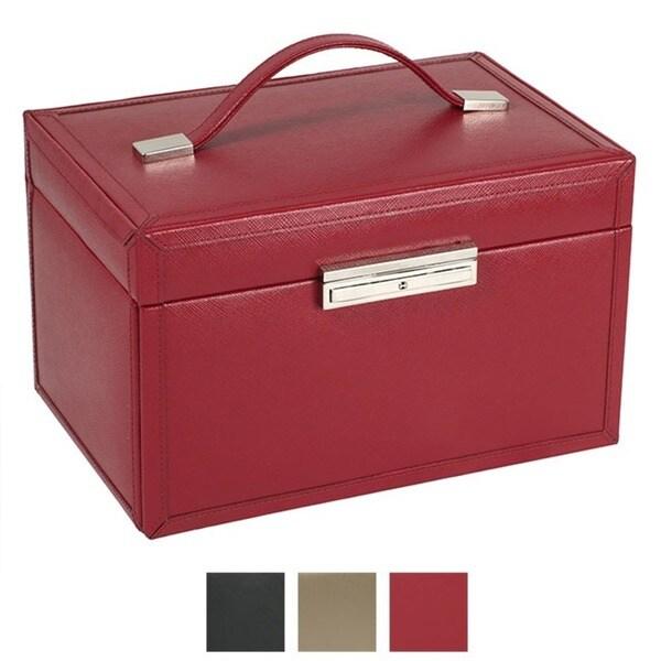 WOLF Queen's Court Medium Leather Jewelry Case