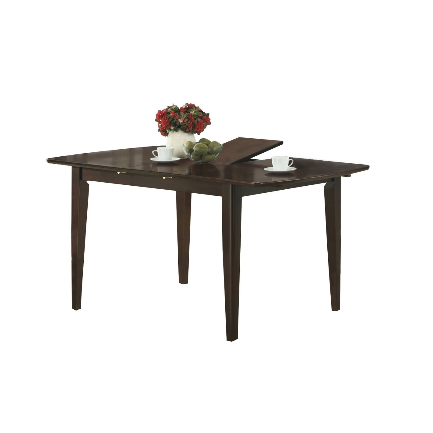 Monarch Cappuccino Wood Butterfly Leaf Dining Table (Capp...