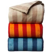 Luxury Printed Stripe Microplush Blanket