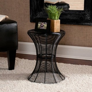 Cordoba Indoor/Outdoor Black Round Side Table