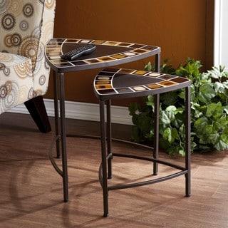 Miramar 2-piece Indoor/ Outdoor Earthtone Nesting Tables