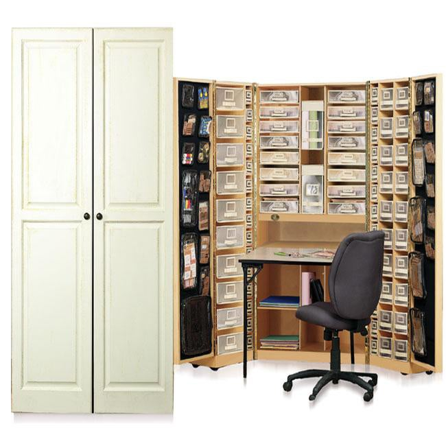 office desk armoire enclosed office workbox vanilla raised panel scrapbooking amp office desk armoire shop