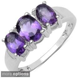 Malaika Sterling Silver Gemstone Women's Ring