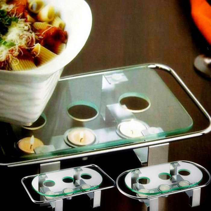 Food Warmer Candle ~ Contemporary design candle chafing dish food warmer