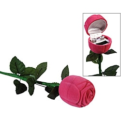 Premium Cubic Zirconia Earrings with a Pink Rose Box (Case of 100)