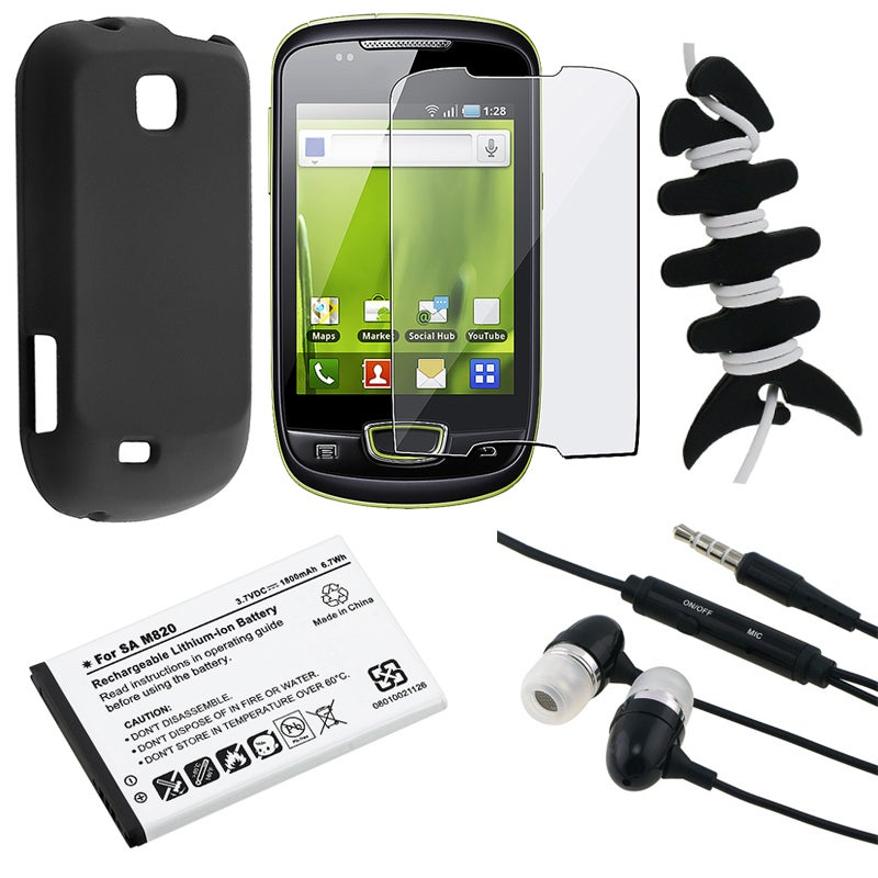 Black Case/ Screen Protector/ Headset/ Wrap/ Battery for Samsung S5570