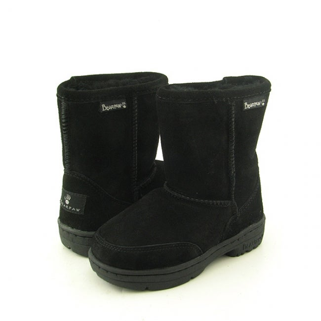 Bearpaw Baby and Toddler Black Suede Boots