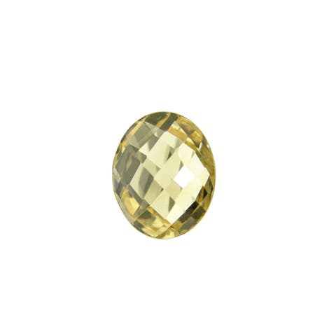 Glitzy Rocks Oval 12x10mm Double Sided Briolette-cut 4ct TGW Citrine Stone