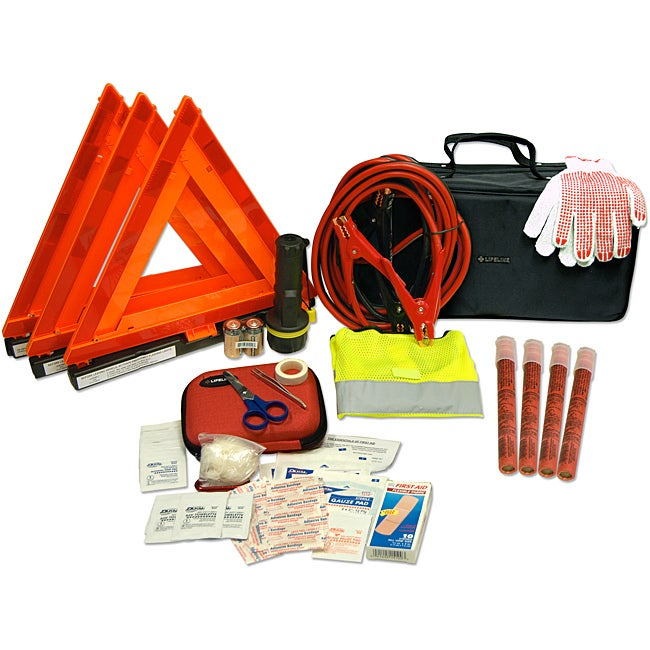 Car/Truck 67-piece Road Safety Kit in a Premium Carrying Case
