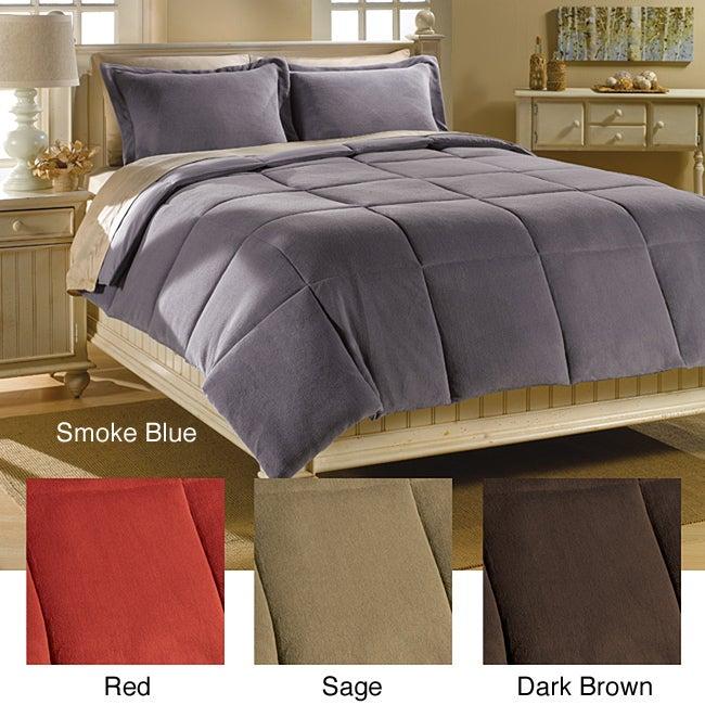 All Seasons Plush Down Alternative 3-piece Comforter and Sham Set
