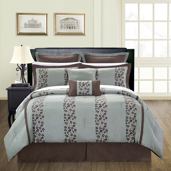 shop pebbles 12 piece queen size bed in a bag with sheet set free shipping today overstock. Black Bedroom Furniture Sets. Home Design Ideas