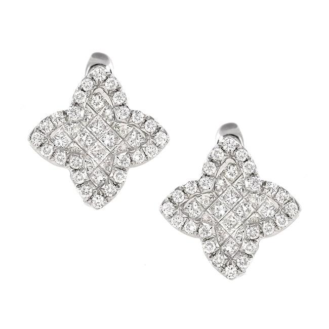 14k White Gold 1 1/3ct TDW White Diamond Earrings (G, SI1)