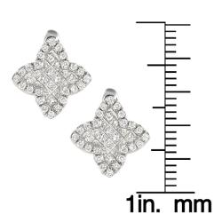 14k White Gold 1 1/3ct TDW White Diamond Earrings (G, SI1) - Thumbnail 1