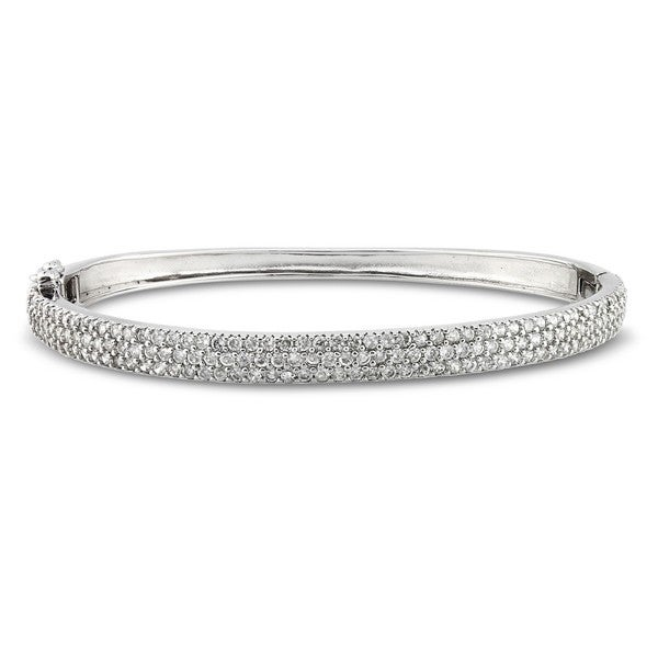 Catherine Catherine Malandrino 18k Gold Over Sterling Silver 5ct TGW Cubic Zirconia Bangle