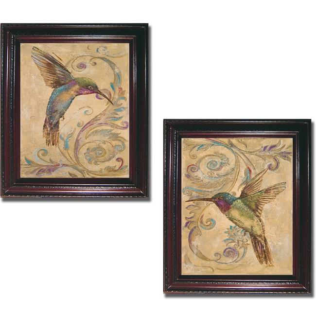 Patricia Pinto 'Hummingbird I and II' Framed 2-piece Canvas Art Set