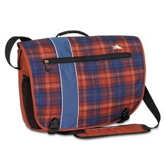 High Sierra Rufus Messenger Flannel Plaid Laptop Messenger Bag