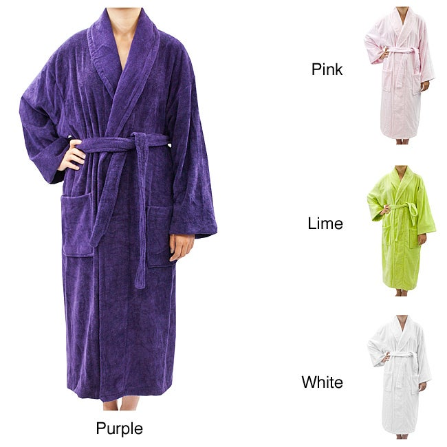 Leisureland Women's Luxury Cotton Terry Velour Robe