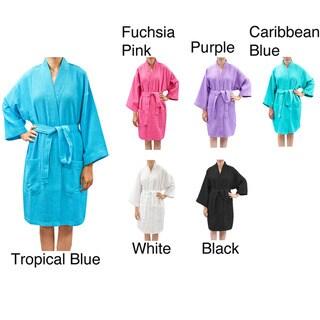Leisureland Women's Waffle Weave Spa Bath Robe