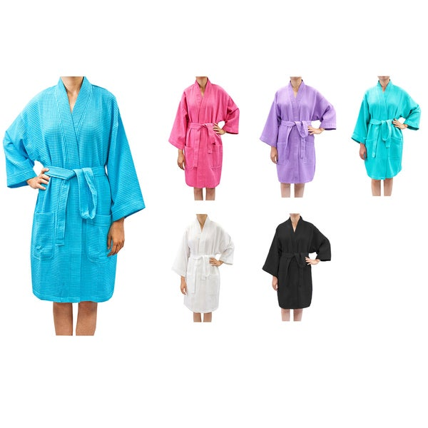 c4f10a2dfa Shop Leisureland Women s Waffle Weave Spa Bathrobe - Free Shipping ...