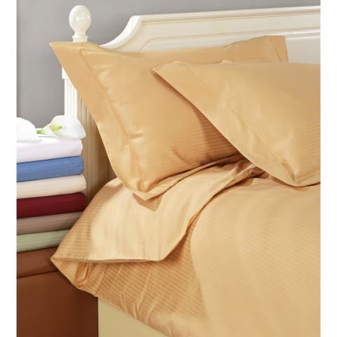 Superior Egyptian Cotton 1000 Thread Count Stripe Duvet Cover Set
